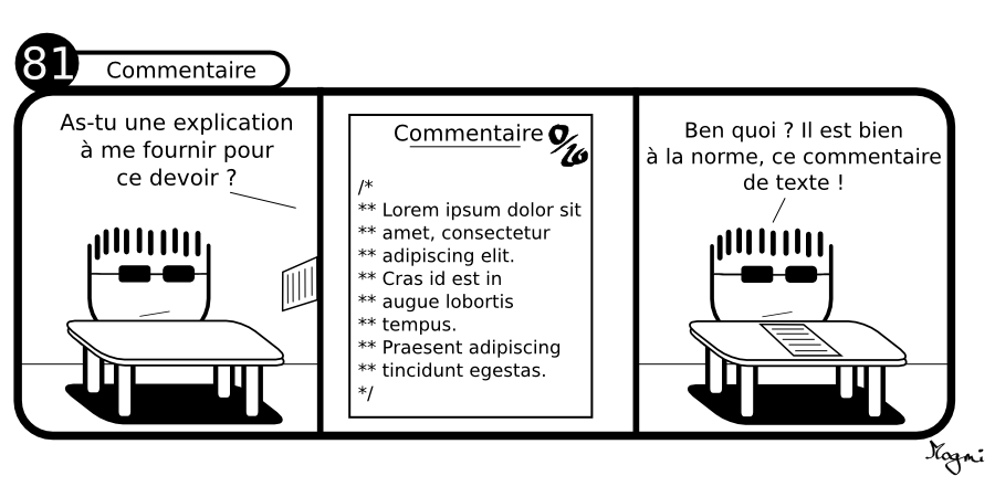 81 - Commentaire